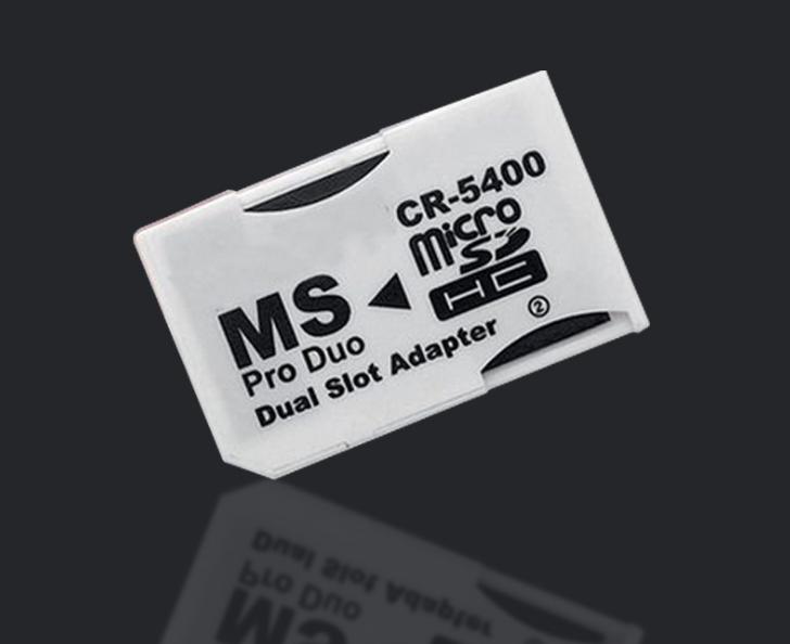 PSP記憶棒雙卡卡套 雙TFMicroSDHC卡轉MS 雙馬甲 讀卡器適配器 5