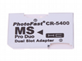 PSP Memory Stick Dual Card TFMicroSDHC Card to MS Double Vest Reader Adapter