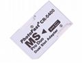 PSP记忆棒双卡卡套 双TFMicroSDHC卡转MS 双马甲 读卡器适配器 4