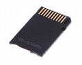 PSP記憶棒單卡套Micro SDTF卡轉MS轉接器 MS適配器讀卡器Adapter 8