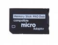 PSP记忆棒单卡套Micro SDTF卡转MS转接器 MS适配器读卡器Adapter 9
