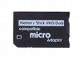 PSP Memory Stick Single Card Holder Micro SDTF Card to MS Adapter MS Adapter 9