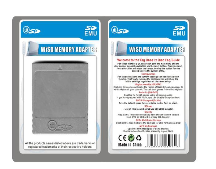 【厂家直销】WIINGC SD卡转接器wiisd读卡器 SD适配器卡槽 3