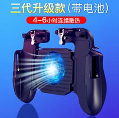 爆款H5手机散热游戏手柄透明辅助吃鸡神器B15手游蓝牙手柄厂