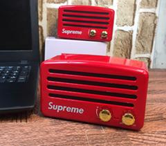 货源潮牌supreme蓝牙音箱复古收音机猫王音箱便携式桌面音箱