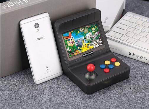 復古迷你街機retro arcade遊戲機gba搖桿街機懷舊遊戲機大屏mini 18