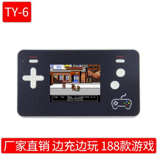 抖音NES迷你移動電源掌機充電寶掌上遊戲機FC8位黃卡魂斗羅紅白機  3