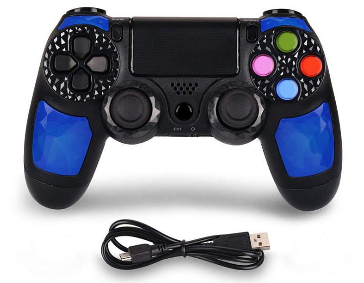 爆款PS4無線藍牙手柄雙震動方案穩定PS4遊戲手柄帶軸觸屏 1