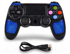 爆款PS4無線藍牙手柄雙震動方案穩定PS4遊戲手柄帶軸觸屏