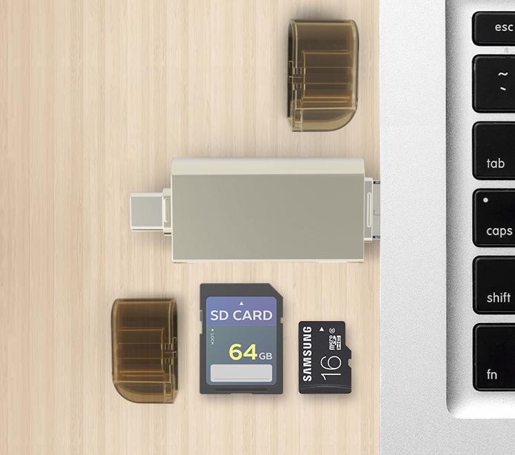 Type-C手机TF卡读卡器四合一定制多功能U盘内存卡手机电脑通用 11