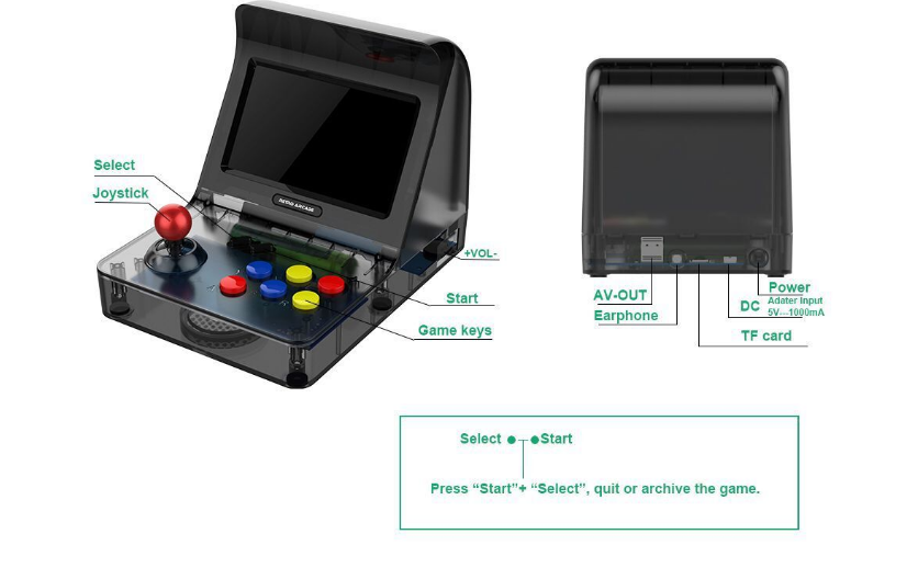 新款怀旧双人对打Retro Arcade模拟街机 外贸款4.3寸3000款游戏 11
