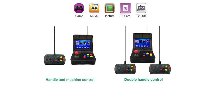 新款怀旧双人对打Retro Arcade模拟街机 外贸款4.3寸3000款游戏 12