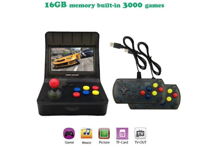 新款怀旧双人对打Retro Arcade模拟街机 外贸款4.3寸3000款游戏 14