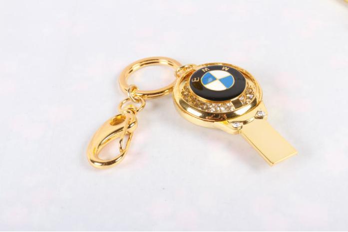 廠家直銷 高檔珠寶U盤 汽車行業禮品U盤 促銷鑰匙扣車標8GU盤 1