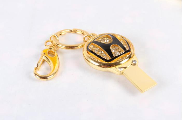 厂家直销 高档珠宝U盘 汽车行业礼品U盘 促销钥匙扣车标8GU盘 3