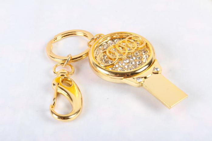 厂家直销 高档珠宝U盘 汽车行业礼品U盘 促销钥匙扣车标8GU盘 4