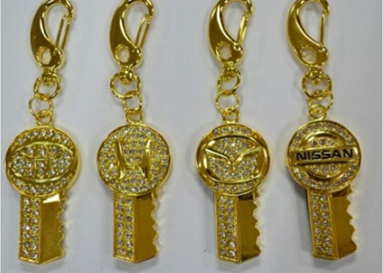 廠家直銷 高檔珠寶U盤 汽車行業禮品U盤 促銷鑰匙扣車標8GU盤 7