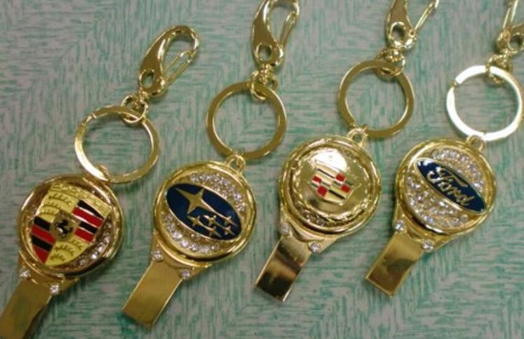 廠家直銷 高檔珠寶U盤 汽車行業禮品U盤 促銷鑰匙扣車標8GU盤 9