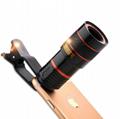 10合一 8X12X长焦手机通用镜头 12倍望远镜 广角微距鱼眼自拍杆 5