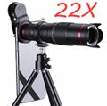 10合一 8X12X长焦手机通用镜头 12倍望远镜 广角微距鱼眼自拍杆 6