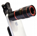 10合一 8X12X长焦手机通用镜头 12倍望远镜 广角微距鱼眼自拍杆 8