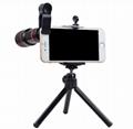10合一 8X12X长焦手机通用镜头 12倍望远镜 广角微距鱼眼自拍杆 11