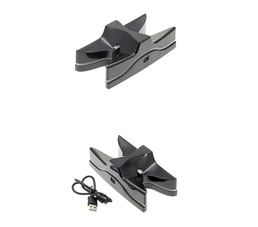PS4手柄雙座充 ps4手柄七彩雙充支架 無線遊戲手柄座充電底座 3