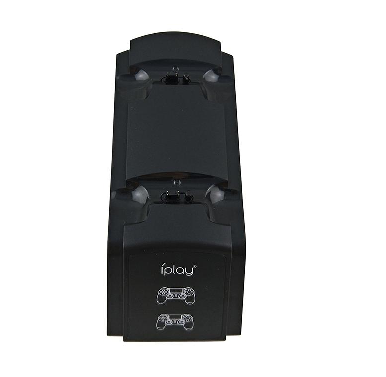 PS4手柄雙座充 ps4手柄七彩雙充支架 無線遊戲手柄座充電底座 7