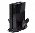 PS4手柄雙座充 ps4手柄七彩雙充支架 無線遊戲手柄座充電底座 10