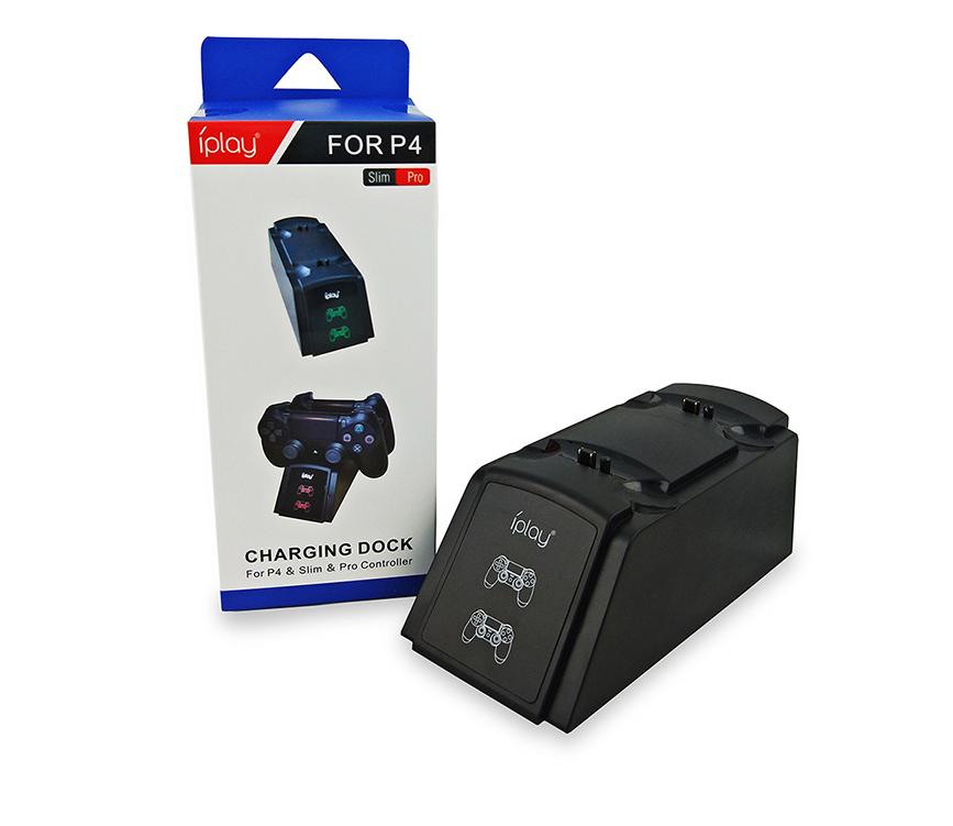 PS4手柄雙座充 ps4手柄七彩雙充支架 無線遊戲手柄座充電底座 13