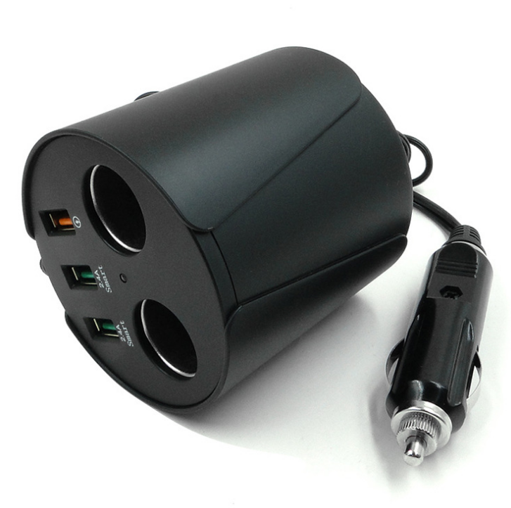 Multi-function rocket head car charger dual usb car charger 4