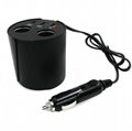 Multi-function rocket head car charger dual usb car charger
