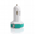 Multi-function rocket head car charger dual usb car charger 7