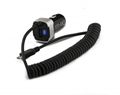 Multi-function rocket head car charger dual usb car charger 14