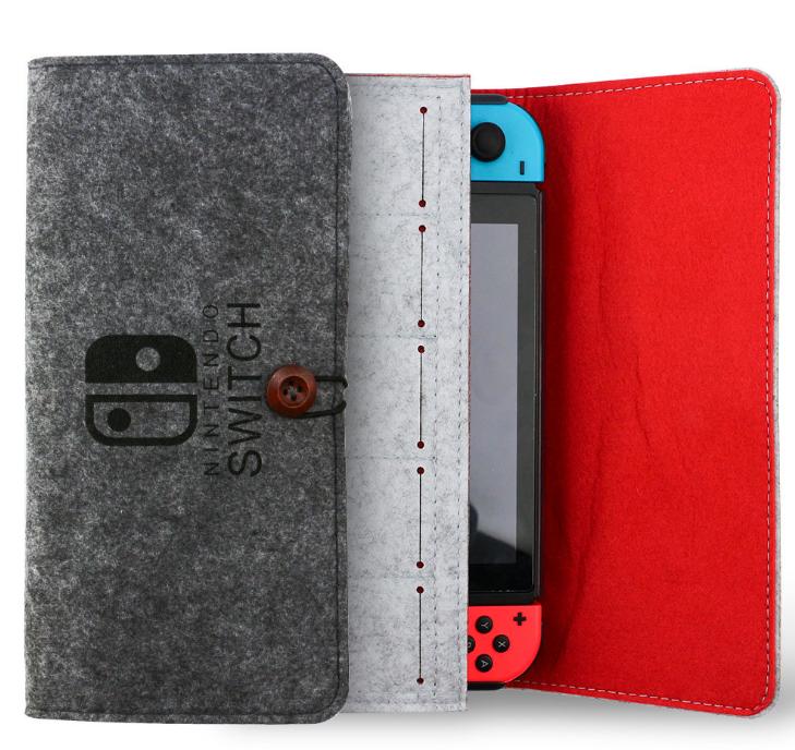 新款任天堂switch便携手拿毛毡软包switch主机保护包switch收纳包 2