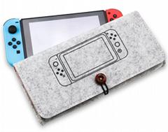 新款任天堂switch便攜手拿毛氈軟包switch主機保護包