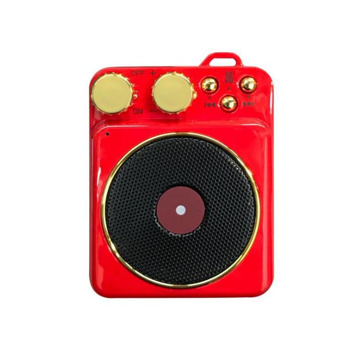 新款P1鏡面鬧鐘藍牙音箱家用辦公收音機手機插卡電腦音響 14