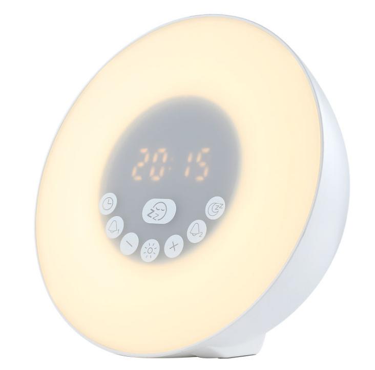 新款P1鏡面鬧鐘藍牙音箱家用辦公收音機手機插卡電腦音響 15