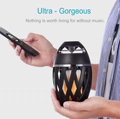 厂家直销新款i3火焰灯蓝牙音箱创意电脑迷你低音炮智能户外音响