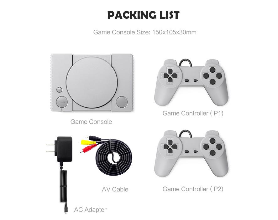 經典8位PS1迷你家用遊戲機 內置620款遊戲經典復古雙人對戰遊戲機 3