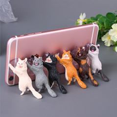 新款創意桌面貓咪君貓咪救援軍吸盤手機支架卡通可愛小貓精美禮品