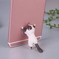 新款创意桌面猫咪君猫咪救援军吸盘手机支架卡通可爱小猫精美礼品 3