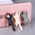 新款创意桌面猫咪君猫咪救援军吸盘手机支架卡通可爱小猫精美礼品 4