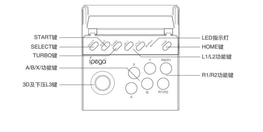 PG-9135手機角鬥士街機格鬥搖桿平板手柄支持安卓IOS直連直玩 6