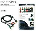 工厂直销PS2色差线 PS2分量线 PS3色差线 分量线 PS2色差线 4