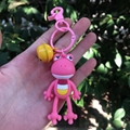 PCV Soft Plastic Bear Keychain Cartoon Doll Cute Bear Bag Pendant Car Key Ring  7