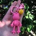PCV软塑料3D钥匙扣环氧树脂娃娃卡通三维长袋汽车吊坠 6