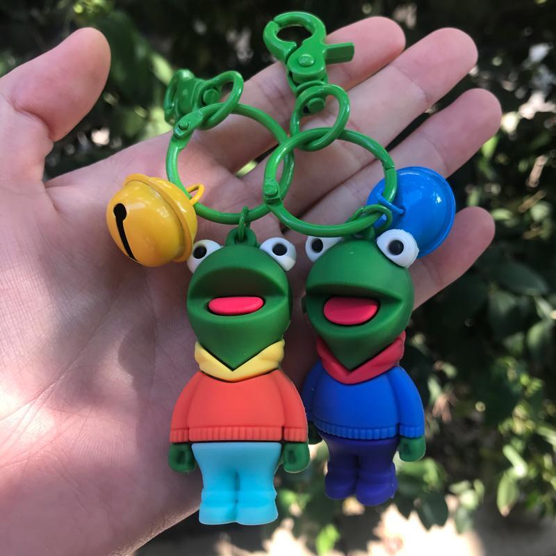 PCV Soft Plastic Bear Keychain Cartoon Doll Cute Bear Bag Pendant Car Key Ring  6