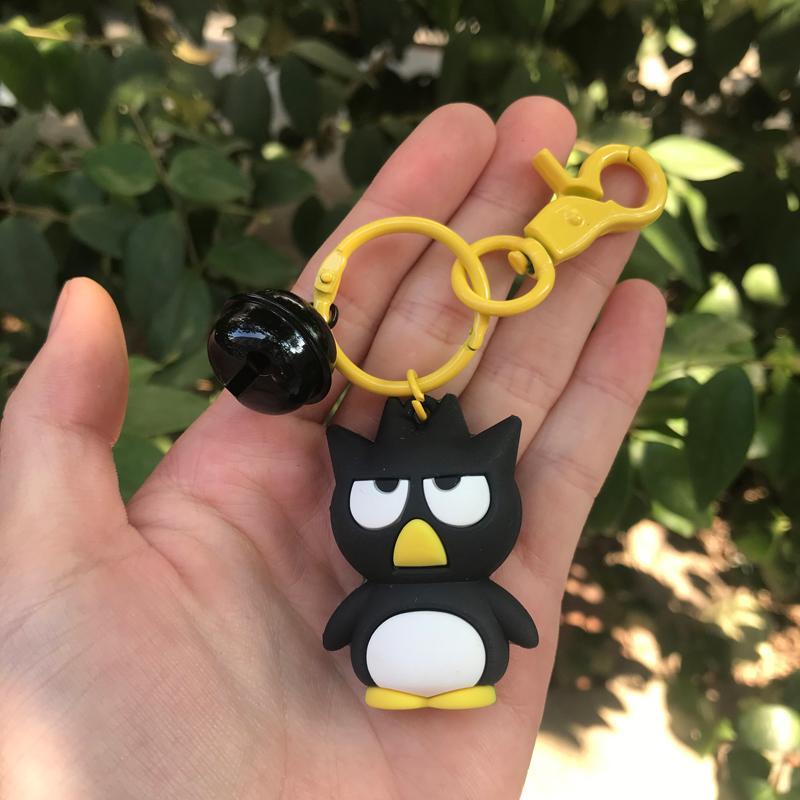 PCV Soft Plastic Bear Keychain Cartoon Doll Cute Bear Bag Pendant Car Key Ring  9