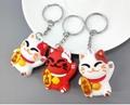 PCV Soft Plastic Bear Keychain Cartoon Doll Cute Bear Bag Pendant Car Key Ring  12